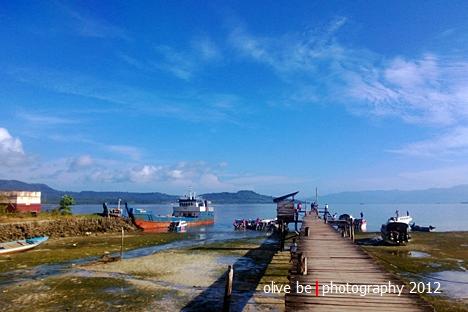 Dermaga pelabuhan Tulehu, Ambon di pagi hari yang diabadikan dengan Lumia 920