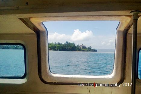 Benteng Beverwijk nampak di kejauhan menjelang Nusa Laut diabadikan dengan Lumia 920