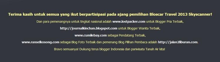 Pemenang Indonesia Blogscar 2013