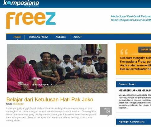 Headline, Kompasiana 30 Juli 2013