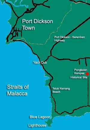 Peta Port Dickson (sumber : Wikipedia)