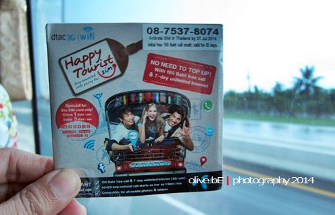 happy tourist, sim card thailand