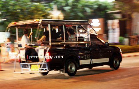 songthaew, angkutan umum di pattaya