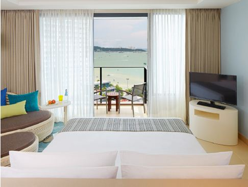deluxe ocean view, holiday inn pattaya