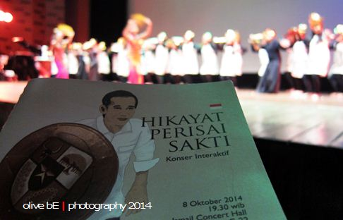 the indonesia choir, jokowi