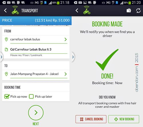 Gojek, Mobile Apps Gojek, Ojek