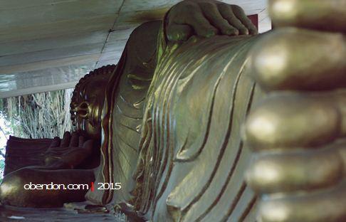 buddha tidur, vihara ratanava arama, vihara di lasem