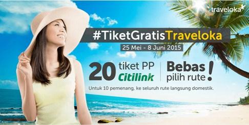tiket gratis traveloka
