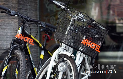sewa sepeda artotel, artotel surabaya