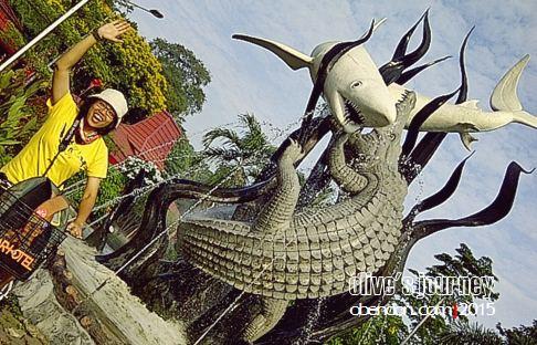 patung suro dan boyo, kebun binatang surabaya, artotel surabaya