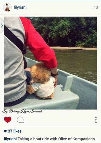 lily riani, travel beruang, wisata serawak