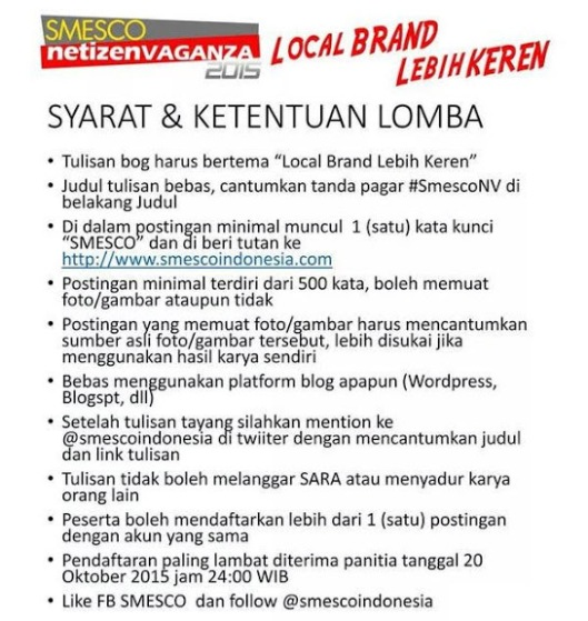 syarat lomba blog smesco, smesconv
