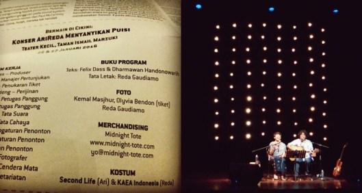Konser AriReda, Reda Gaudiamo, Ari Malibu, Musikalisasi Puisi