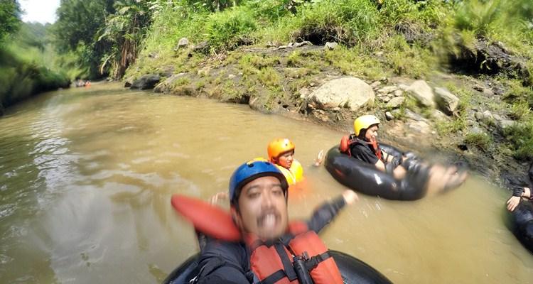 river tubing kandri, nginthir kalijaga, desa wisata kandri, river tubing kali kreo,  semarang hebat
