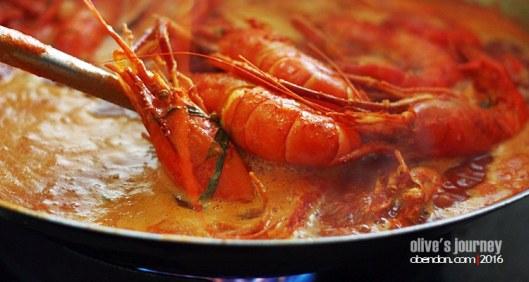 udang galah asam pedas, kuliner kuala kubu bharu, udang enak, eat travel write