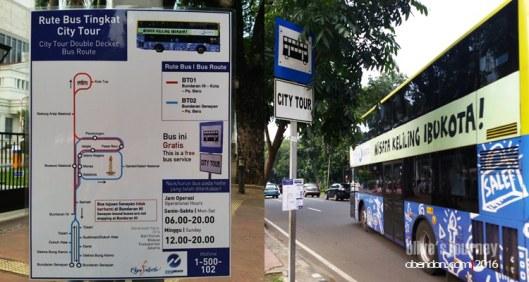 Mpok Siti, Jakarta City Tour, Free bus Jakarta city tour, keliling jakarta gratis, tourist double decker bus