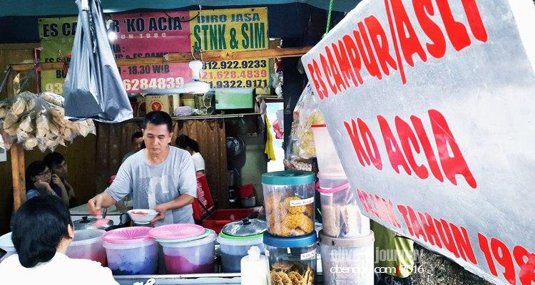 Es Campur Ko Acia, Es Campur Mangga Besar, Es Campur Enak, Es Campur di Jakarta