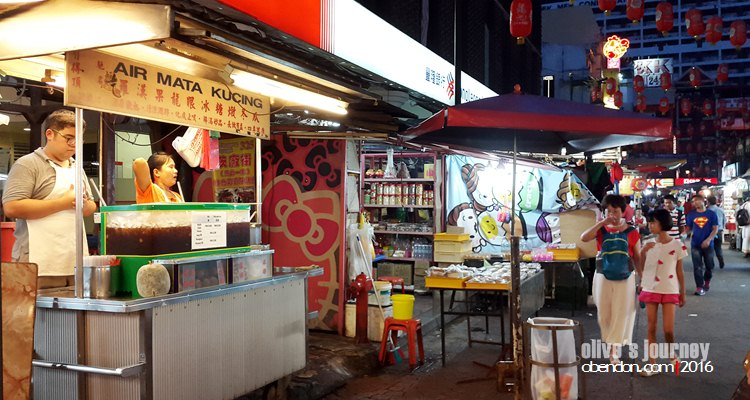 air mata kucing, petaling street, food stall at petaling street