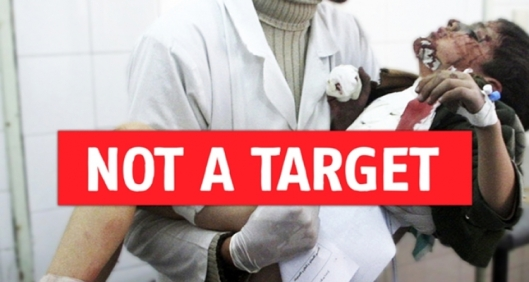 not a target campaign, msf campaign, doctors without borders, humanitarian