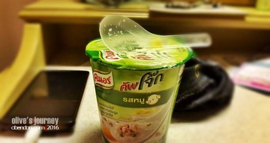 Knorr Cup Jok Pork, kuliner thailand, thai culinary journey, sosis bakar thailand, bubur thailand