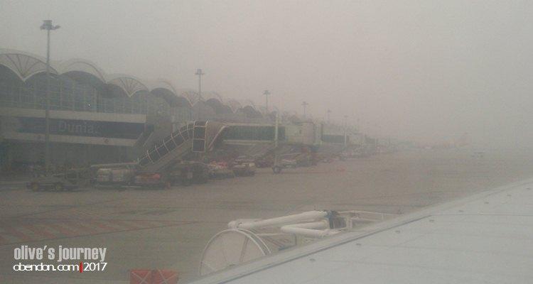 kabut asap, kualanamu airport, dampak kebakaran hutan, hari hutan sedunia 2017