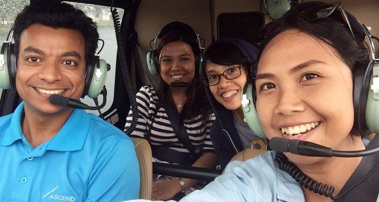 ascend skytour, wisata udara malaysia, naik helikopter di kuala lumpur