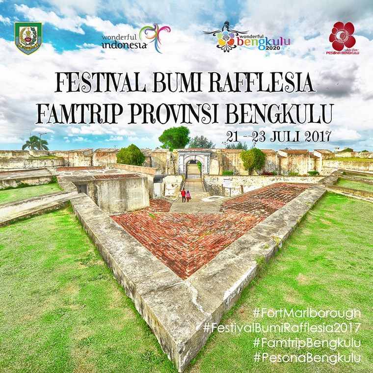 famtrip bengkulu, festival bumi raffllesia 2017, fort marlborough