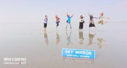 sky mirror, sasaran beach, rentak selangor, Salar de Uyuni