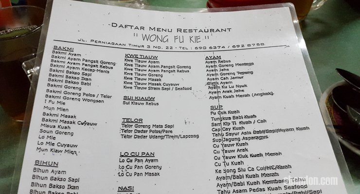 Mun Kiaw Mien, Wong Fu Kie, restoran cina terlezat di jakarta, kuliner glodok