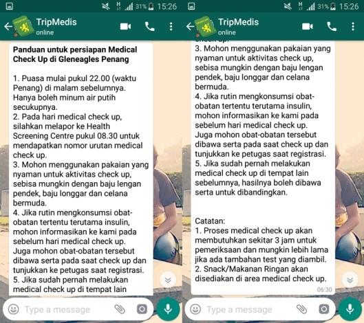 tripmedis indonesia, medical tourism, biaya berobat di penang, medical check-up di gleneagles penang, medical check-up di penang