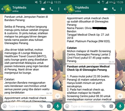 tripmedis indonesia, medical tourism, biaya berobat di penang, medical check-up di gleneagles penang, medical check-up di penang