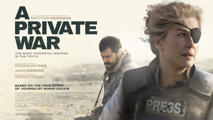 a private war, marie colvin, war journalist