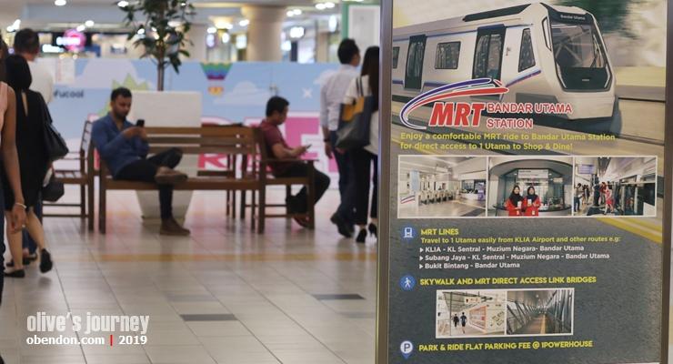 how to get 1 utama from Kuala Lumpur, mrt to 1 utama, transport ke 1 utama