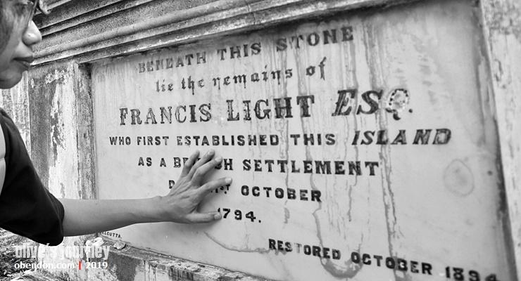 francis light, makam francis light penang, protestant cemetery penang, traveloka xperience, xperienceseru