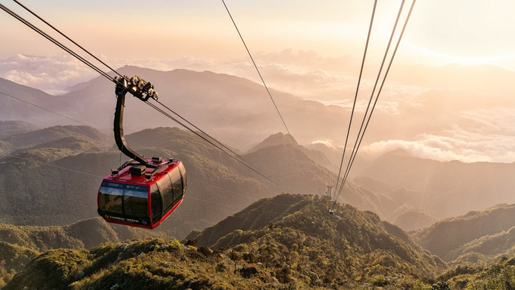 fansipan legend cable car, fansipan mountain, harga tiket fansipan cable car