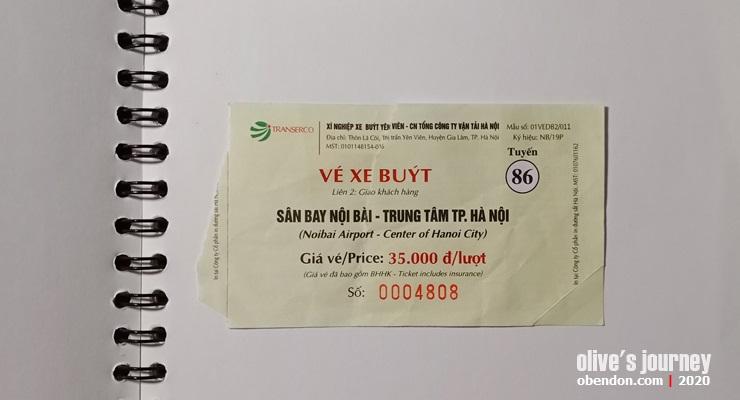 public transportation in vietnam, bus express 86 hanoi, bus dari bandara noibai ke old quarter hanoi, airport bus in hanoi