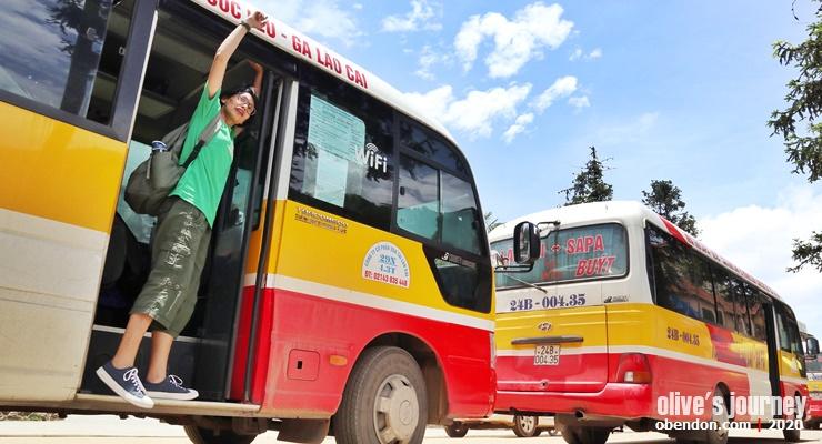 shuttle bus lao cai to sapa, public transportation sapa, public tranportation vietnam