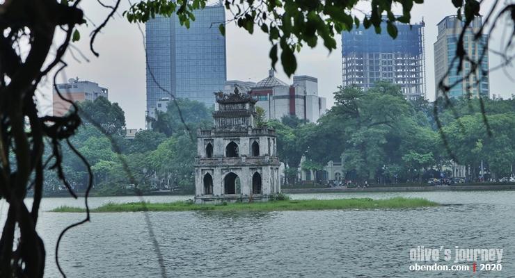 turtle tower, the story of hoan kiem lake, history of hoan kiem lake, historical monument at hoan kiem lake