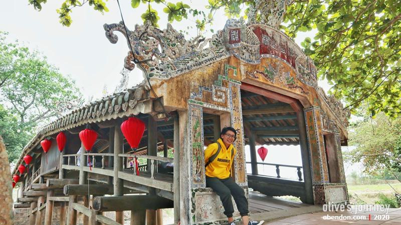 than toan bridge, hue, vietnam tengah, thuy thanh village, an old bridge in Vietnam